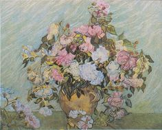 Still Life Vase with Roses Vincent van Gogh Impressionism Flowers art for sale at Toperfect gallery. Buy the Still Life Vase with Roses Vincent van Gogh Impressionism Flowers oil painting in Factory Price. Vincent Van Gogh, Art Van, National Gallery Of Art, Art Gallery, Rose Oil Painting, Painting & Drawing, Flores Van Gogh, Van Gogh Flowers, Van Gogh Still Life
