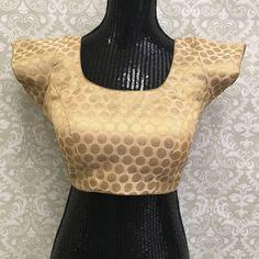 Party Wear Brocade Blouse Golden