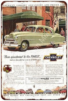 1951 Chevrolet Vintage Look Reproduction Metal Sign 8x12 8122306