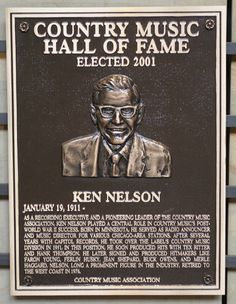 Ken Nelson - Inducted in 2001