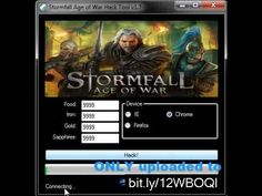 Stormfall Age of War Hack Cheat - Unlimited Food, Iron, Gold and Sapphir.