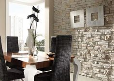 Total Wallcoverings, the main UK distributor for Total Stone wall panels. Lightweight FRP panels with real stone particles Total Wallcoverings, the UK distributor for Total Stone and Panel Piedra wall panels. Interior Walls, Interior And Exterior, Interior Rendering, Best Interior Design, Interior Decorating, Brick Wall Paneling, Faux Stone Panels, Faux Brick, Beautiful Interiors