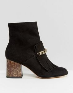 ASOS | ASOS RIO Fringe Loafer Ankle Boots