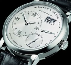 """#SIHH2016: A. Lange & Söhne Lange 1 Watch In White Gold - by Zach Pina - on aBlogtoWatch.com """"At SIHH 2016, A. Lange & Söhne presents its extended Lange 1 watch range after introducing the newly updated line last year in 2015. The A. Lange & Söhne Lange 1 is now available in white gold, in addition to the yellow gold, pink gold, and platinum versions that are already available. Unsurprisingly, the result looks great, and the brand has also applied luminous hands and markers to the watch..."""""""