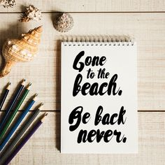 Gone to the Beach- You may be thinking about your last Outer Banks beach vacation or planning your next one, but either way we'll help you get into an OBX state of mind with these beach quotes and sayings. They're some of our favorites, so expect to be inspired to head toward the sun, sand and sea. We'll see you there!