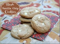 Maple Vanilla Chip Cookies - Sweet Pea
