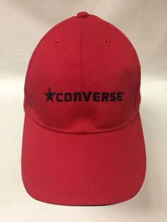 20ea44852cc73 Converse All Star Chuck Taylor Red Baseball Cap Hat Cotton Strapback Nice