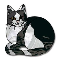 Check out the deal on Free Pattern, Kitty Kitty at Glass Crafters Stained Glass Stained Glass Suncatchers, Faux Stained Glass, Stained Glass Projects, Mosaic Art, Mosaic Glass, Cat Quilt Patterns, Stained Glass Patterns Free, Cat Template, Stained Glass Supplies