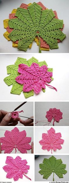 Crochet Maple Leaf