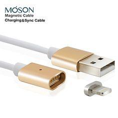 2.4a+nuovo+metallo+magnetico+8pin+cavo+USB+charger+ricarica+per+il+iphone+7+6s+6+Plus+SE+5s+5c+5+per+ipad+ipod+touch+5+6+–+EUR+€+10.28