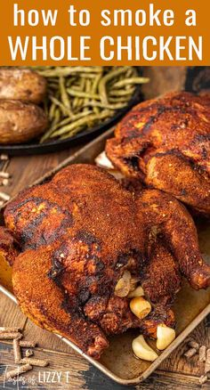 Pellet Grill Recipes, Grilling Recipes, Beef Recipes, Potato Recipes, Turkey Recipes, Healthy Recipes, Grilled Whole Chicken, Smoked Whole Chicken, Bbq Chicken
