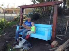 swing made from a tailgate   via jane bell
