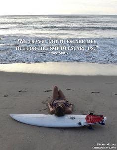 50 Travel Quotes To Live By (Bikini Photos) By Vanessa Rivers of GlitterandMud.com