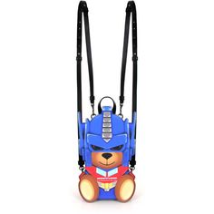 Moschino Small Transformer Teddy Backpack ($1,255) ❤ liked on Polyvore featuring bags, backpacks, daypack bag, moschino bags, white bag, zip bag and moschino