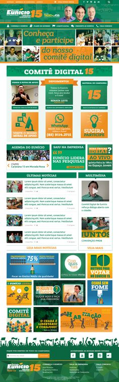 Site para a campanha eleitoral do senador Eunício Oliveira para o governo do Estado do Ceará em 2014