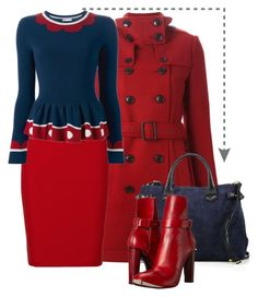 """""""Untitled #2908"""" by julinka111 ❤ liked on Polyvore featuring Burberry, Roland Mouret, RED Valentino and COSTUME NATIONAL"""