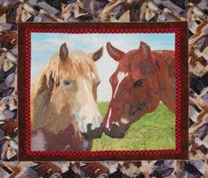 horse quilt.  hand painted