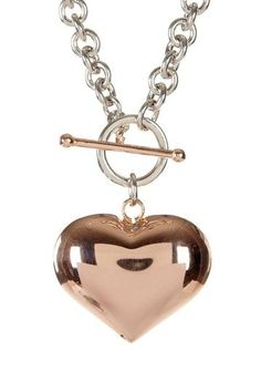 Puffed Heart Necklace ♥ Of course I love it...it's a heart!