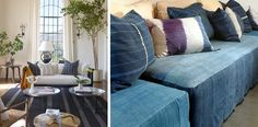 Love the sofa covers on right