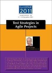 Test Strategies in Agile Projects by Anders Claesson.    A well defined agile test strategy guides you through the common obstacles with a clear view of how to evaluate the system.    http://www.eurostarconferences.com/