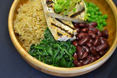 """Whole Foods """"Mighty Bowls"""" concept for building easy, nutritious meals from all sorts of things that are probably already languishing in your fridge..."""