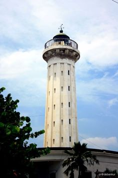 The old lighthouse was constructed in Pondicherry in the nineteenth century by the French rulers.  A new lighthouse was constructed in the 20th century by the Government of India.  The old lighthouse was deactivated in 1979 when the new one was built. Location: Pondicherry, India.