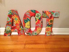 "14"" wall hand-painted wooden wall letters! AOT Sorority Letters, Sorority Crafts, Painted Wood Letters, Hand Painted, Alpha Gamma, Letter Wall, Loyalty, Crosses, Omega"