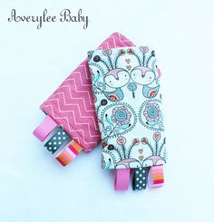 Tula Tweethearts Reversible drool pads, suck pads by Averylee Baby