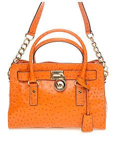 Michael Kors Hamilton North South Tote in Tangarine Ostrich leather. Bought this as a present to myself. LOVE IT!