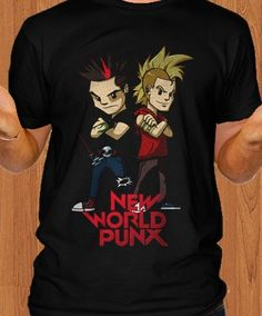 New World Punx Men T-Shirt. Available white and black t-shirt. available for men and women. From: $20