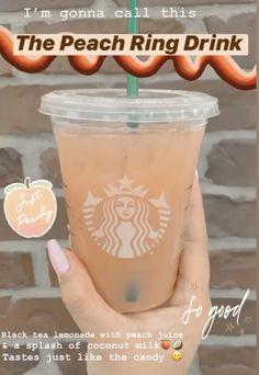 Starbucks Specialty Drinks, Cold Starbucks Drinks, Starbucks Hacks, Starbucks Secret Menu Drinks, Smoothie Drinks, Smoothies, How To Order Starbucks, Coffee Drink Recipes, Yummy Drinks