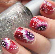 Acrylic paint flowers http://www.makeupbee.com/look.php?look_id=76217