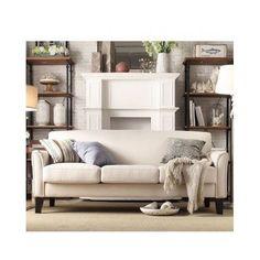 White Linen Sofa Couch Living Room Furniture Contemporary Modern Urban New #Tribecca #ContemporaryModernUrban