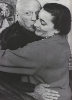Picasso and his muse and last wife, Jacqueline Roque.
