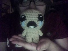 Isaac from the Game The Binding of Isaac - Free Amigurmi Pattern here: http://suggarcoatedlies.blogspot.com.es/2011/11/crochet-isaac.html