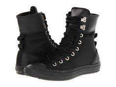 Converse Chuck Taylor® All Star® Elsie Boot Rolldown - Nylon Black/Black - Zappos.com Free Shipping BOTH Ways
