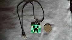 Check out this item in my Etsy shop https://www.etsy.com/listing/214412146/minecraft-creeper-charm-ooak-handmade