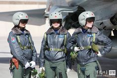 Chinese female JH-7/J-10 fighter pilots [950x634]