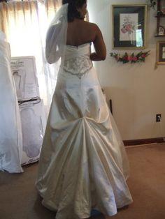 american bustle bridal gown