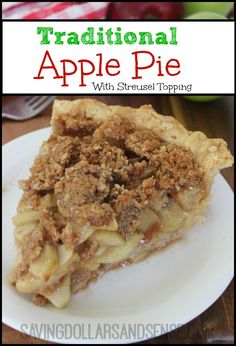 This Traditional Dutch Apple Pie is the perfect fall dessert. Just add a scoop of vanilla ice cream to a slice of warm pie and enjoy!!