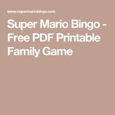 Super Mario Bingo - Free PDF Printable Family Game