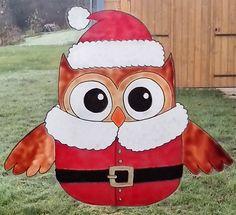 wicoart sticker window color cling glass paint main noel chouette pere noel owl - Windows Color Noel