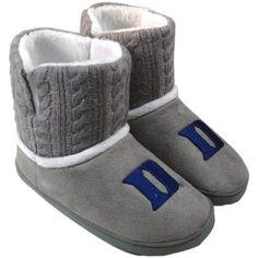 Duke Blue Devils Ladies Knit Booties - Gray Lebro James, Sock Shoes, Cute Shoes, Duke Unc, Go Big Blue, Knitted Booties, Duke Blue Devils, I Love My Wife, Duke University