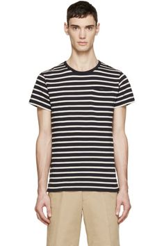 A.P.C. - Navy & Off-White Mousse T-Shirt