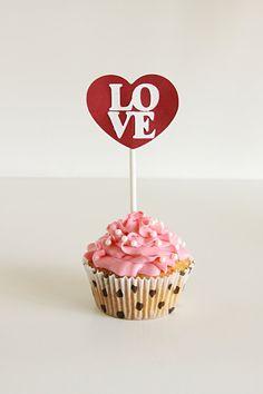 valentine cupcake topper