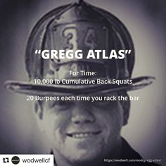 Oh My!!!! Repost @wodwellcf (@get_repost) Choose any weight to squat. Figure out how many reps it takes to reach or exceed 10000 lbs and thats your target number of reps. Re-rack the weight to rest or to change the weight. But for every re-rack you owe a 20-burpee penalty. -- See WOD details and one athlete's video (Kevin Van De Casteele @sfekev completed the workout at 176 lb all 57 reps unbroken in 4:00) at wodwell.com -- This Firefighter Hero WOD is dedicated to Gregg Atlas FDNY (New York…