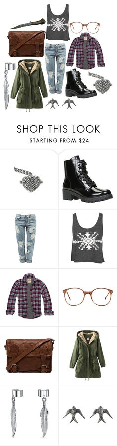 """Untitled #291"" by and-he-shall-be-my-squishy ❤ liked on Polyvore featuring ALDO, OneTeaspoon, Hollister Co., American Apparel, VIPARO, Bling Jewelry and Blackbird and the Snow"