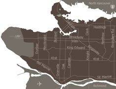 Vancouver areas interactive map, one of the fantastic features of the city's official webpage.  Select an area of the city to be routed to an entire page devoted to the culture, happenings, conditions of, and summary of that area.   Regarding the city website as a whole, also reference the events section and Parks, Recreation & Culture section.  Subsets of the latter include Arts & Culture, Things to Do, & Recreational Activities, which includes Passes, Discounts etc. and Seasonal Activities...