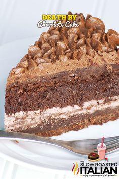 Death by Chocolate Cake From theslowroasteditalian.com #recipe #chocolate #dessert