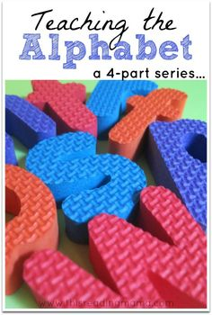 Teaching the Alphabet: a 4-Part Series ~ Part 1) Teaching Letters and Letter Sounds, Part 2) 101 Alphabet Activities and Printables for this School Year, Part 3) 26 Alphabet Books, Part 4) ABC Gift Ideas for Kids | This Reading Mama